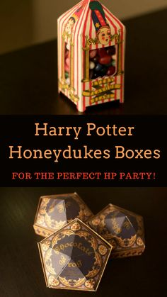There's no Harry Potter parties with out Honeydukes Candy! It's essential!  #ad#affiliate#etsyfinds#enamelpins#harrypotter#harrypotterfan#harrypotterforever #honeydukes #candyboxes #chocolatefrog
