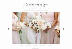 Love love love these tres vintage floral designs by Divine Design Flowers in Miami