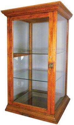 Oak Countertop Display Cabinet