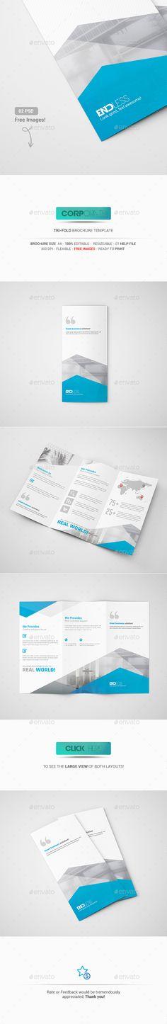 Tri-Fold Brochure Template PSD #design Download: http://graphicriver.net/item/trifold-brochure/13529405?ref=ksioks