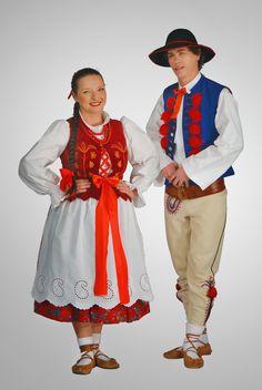Strój górali żywieckich-costume of mountaineers from Żywiec Poland Culture, Polish Folk Art, Folk Dance, Dance Costumes, Embroidery Stitches, Traditional, Halloween, Image, Romania