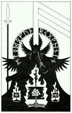 Odin, Huginn, and Muninn Tattoo idea