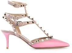 I JUST bought these in black and ivory!  Looove them!   Valentino Garavani 'Rockstud' pumps....