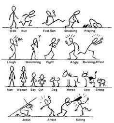 Resultado de imagen de how to draw stick figures
