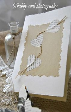 Karten basteln Finishing Touch Interiors: Cute Christmas Card Ideas Your Guide to Bathroom Planning Diy Christmas Cards, Valentine Day Cards, Xmas Cards, Diy Cards, Handmade Christmas, Christmas Projects, Heart Cards, Valentine Decorations, Love Cards