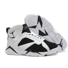 Air Jordan 7 Retro Oreo Black-White On Sale For Mens Online | mines |... ❤ liked on Polyvore featuring men's fashion