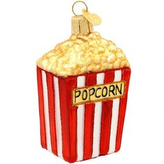 Popcorn Glass Ornament $11.99