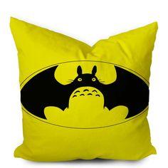 Totoro Parody Batman Superhero Pillowcase