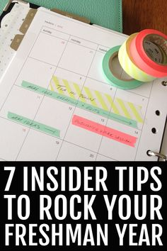 7 Insider Tips to Rock Your Freshman Year Hint: organization is key! Hm, does this go on the board college tips and tricks? Hard to decide! – College Scholarships Tips College Success, College Hacks, Education College, School Hacks, School Tips, College Freshman Tips, College Humor, Espn College, College Roommate