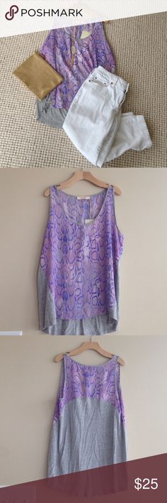 NWT! Stitch Fix Pomelo Purple Leopard Top NWT! Stitch Fix Pomelo Purple Leopard front gray back top. Sleeveless. Perfectly paired with white. Pomelo Tops Tank Tops