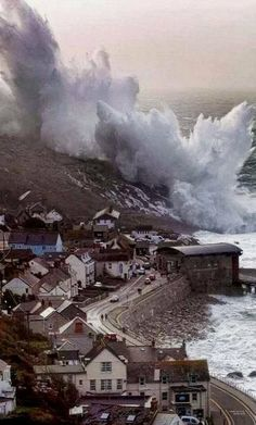 Giant Waves, Sennen Cove, Cornwall