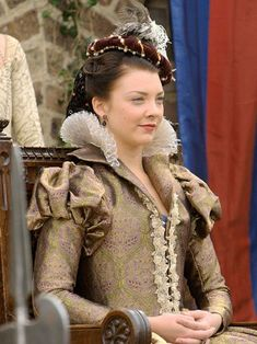 Anne Boleyn (Natalie Dormer) 'The Tudors' 2007-10. Costume design by Joan Bergin.