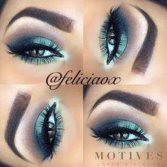 green , eye makeup, brows