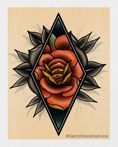 Rose design I would love to tattoo! Send me a message on here or darinblanktattoos@gmail.com