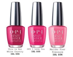 OPI California Dreaming Summer 2017 Collection - Beauty Trends and Latest Makeup Collections Opi Nail Polish, Opi Nails, Nail Polishes, Nail Nail, Cute Nails, Pretty Nails, Opi Nail Colors, Nails 2017, Nails Only