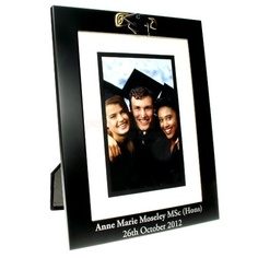 Engraved Black Aluminium Graduation Photo Frame  from Personalised Gifts Shop - ONLY £24.95