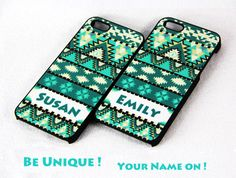 Name On Aztec tribal pattern iPhone 5 Case Hard Plastic Case and Rubber Case