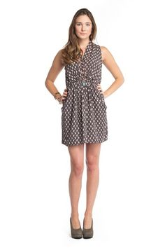 Distinct and Unique! This cat printed dress will add a little novelty to your everyday wardrobe.