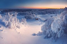 winter in Ural mountains