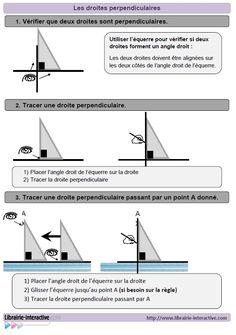 Un référent pour les élèves du CE1 au CM2 pour utiliser l'équerre et tracer des droites perpendiculaires.