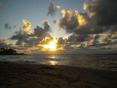 Beautiful sunrise Kapaa Beach - Kauai