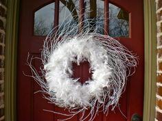 #Feather #wreath