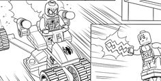 LEGO SPIDER-MAN 3 coloring sheet.