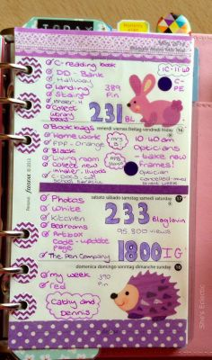 She's Eclectic: My week in my Filofax #20 - close up