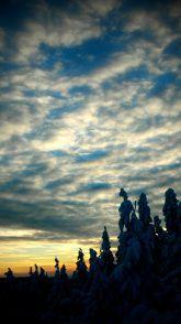 Winter call. Jeseniky mountains, Czech Republic