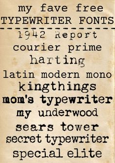 free typewriter fonts