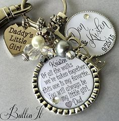 wedding gift for bride from dad daughter wedding gift bridal bouquet wedding jewelry wedding bouquet charm