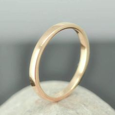 14K Rose Gold Ring, 1.5mm x 1.5mm, Wedding Band, Wedding Ring, Yellow Gold Band, Flat Band, Square Band, Size up to 6 by JubileJewel on Etsy