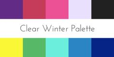 clear winter color analysis palette