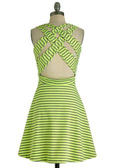 Kiss and Tell Dress in Neon Yellow
