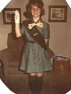 Flying up to be an official Girl Scout..on my honor..I will try....
