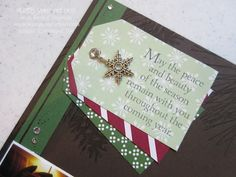 12x12 pages made with 2014 Holiday Catalog Products: the Under the Tree Tag A Bag Accessory Kit and the Ornamental Pine stamp set… #stampyourartout #stampinup - Stampin' Up!® - Stamp Your Art Out! www.stampyourartout.com