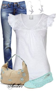 """""""ELLE Felicity Floral & Studs Straw Hobo"""" by stay-at-home-mom on Polyvore"""