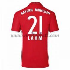 Billige Fotballdrakter Bayern Munich 2016-17 Lahm 21 Hjemme Draktsett Kortermet