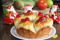 Rosca de leite com   frutas - Pão de  Natal fácil