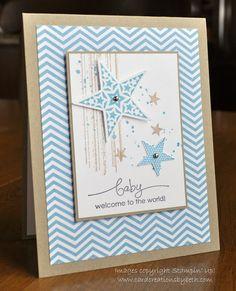 Sweet #SU Baby boy card with stars