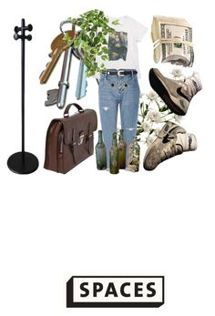 """""""spaces."""" by jilliansenrud ❤ liked on Polyvore featuring Prada, PAM, River Island, Nearly Natural, men's fashion and menswear"""