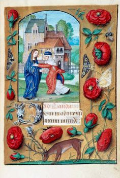The Visitation, from a Book of Hours, c.1500, Netherlands