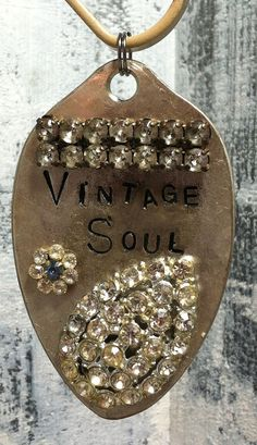 STaMPeD ViNTaGe uPCyCLeD SPooN JeWeLRy by JuLieSJuNQueTiQue, $15.00
