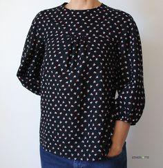 Bluse MILA von schnittchen - Stoff Cachette von Atelier Brunette
