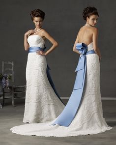 vintage prom dresses love but wouldnt wear white to prom Wedding Dress Types, Blue Wedding Dresses, Designer Wedding Dresses, Bridal Dresses, Prom Dresses, Japanese Wedding Dresses, Wedding Blue, Dresses Dresses, Dress Prom