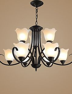 Chandelier+,++Traditional/Classic+Vintage+Retro+Country+Others+Feature+for+LED+Candle+Style+MetalLiving+Room+Bedroom+Dining+Room+Study+–+GBP+£+414.60
