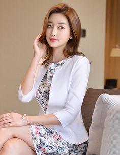 Elegant Dress from Styleonme. Korean Fashion, Women Fashion, Feminine Look, Classy Look, Office Look, Lovely, Romantic, High Quality, Gorgeous Look, S/S 2015, Style On Me, Louis Angel, Winter Styling en.styleonme.com www.facebook.com/StyleonmeEn