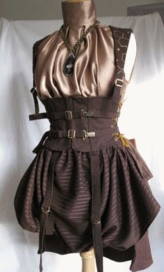 Steampunk Outfit with Corset and Buckles