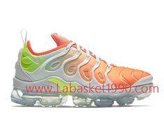 new style f3175 5d281 Nike Air Vapormax Plus Chaussures Officiel 2018 Pas Cher Pour Homme Orange  Blanc AO4550-003