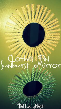 Clothes Pin Mirror!  I just bought clothes pins from the dollar store!!!  I'm going to make one for the craft room in Orange